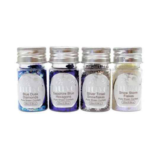 Nuvo - Pure Sheen - Confetti - Let It Snow - 4 Pack