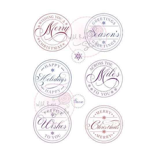 Wild Rose Studio - Clear Stamp - Christmas Circles
