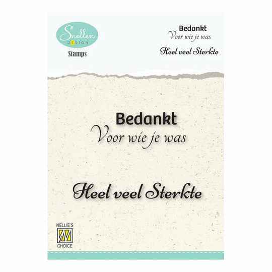 Nellie's Choice - Clear Stamps - Bedankt voor wie je was
