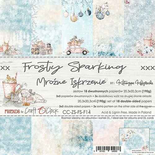 """Craft O'Clock - Paper Collection Set - 8"""" - Frosty Sparking"""