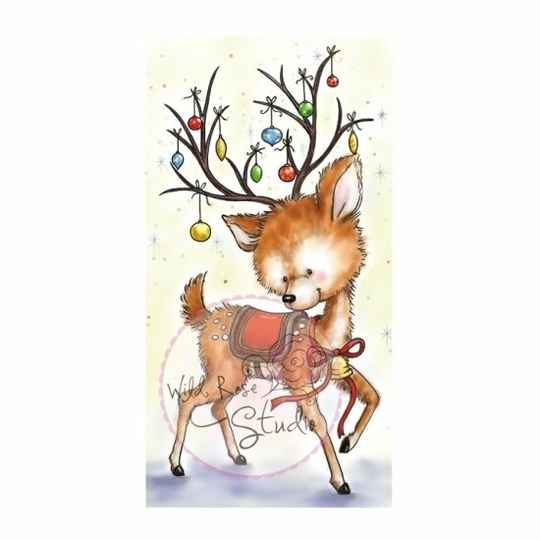 Wild Rose Studio - Clear Stamp - Reindeer with Baubles