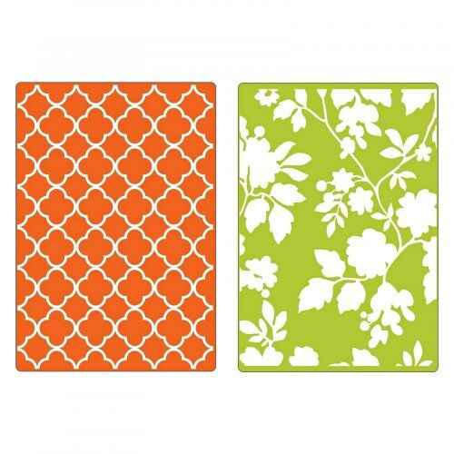 Sizzix - Embossing Folders - Rose Vines & Trellis Set