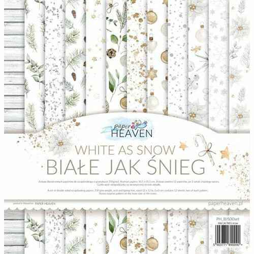 """Paper Heaven - Paper Collection Set - 12"""" - White As Snow"""