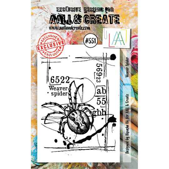 AALL & Create - Stamp set - A7 - Weaver Spider