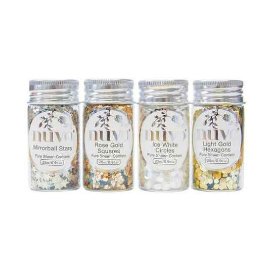 Nuvo - Pure Sheen - Confetti - Golden Years - 4 Pack