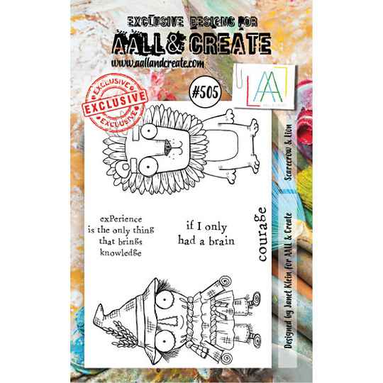 AALL & Create - Stamp set - A7 - Scarecrow & Lion