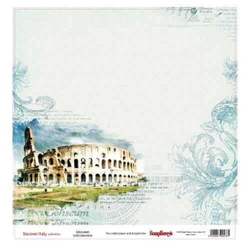 """Scrapberry's - paper 12"""" - Discover Italy - Colosseum"""
