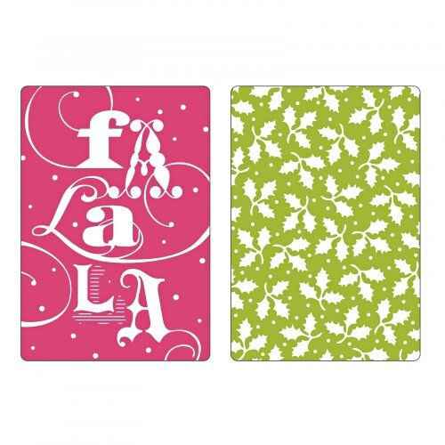 Sizzix - Embossing Folders - Fa La La Set