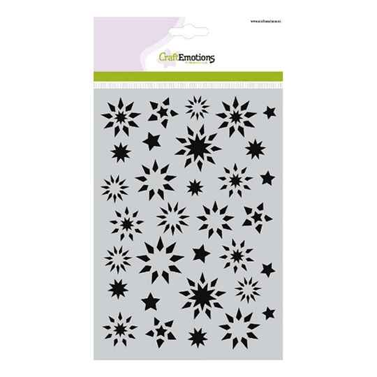 CraftEmotions - Mask stencil - Sterren