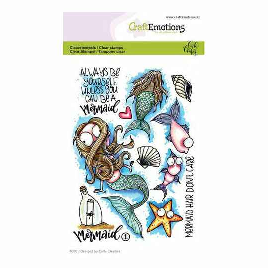 CraftEmotions - clearstamps A6 - Mermaid 1