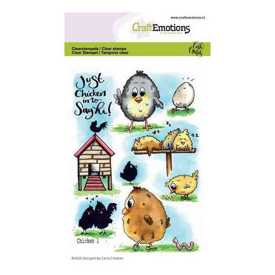 CraftEmotions - clearstamps A6 - Chicken 1