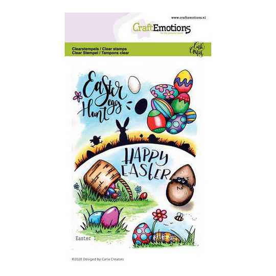 CraftEmotions - clearstamps A6 - Easter 1