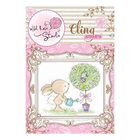 Wild Rose Studio - Cling Stamp - Birthday Tree