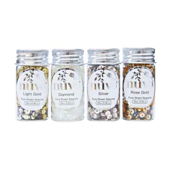Nuvo - Pure Sheen - Sequins - Golden Years - 4 Pack