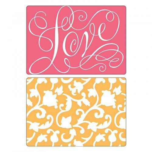 Sizzix - Embossing Folders - Love & Swirling Vines Set