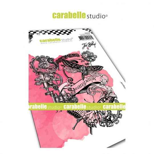 Carabelle Studio - A6 Stamp - Collage Steampunk