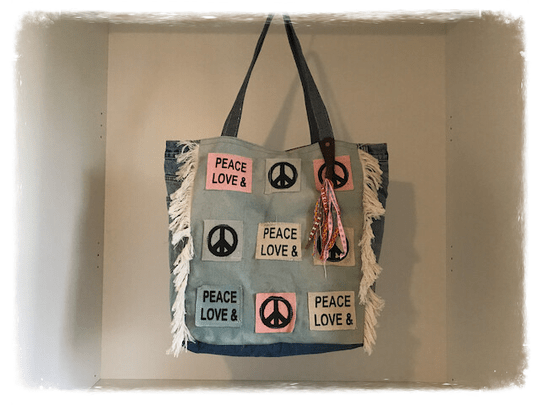 12BA001. Hippie Tas Peace & Love.