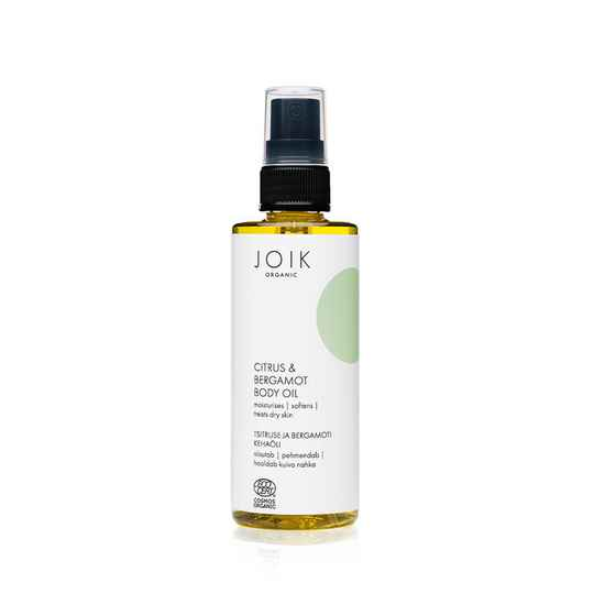 JOIK Organic Vegan Citrus & Bergamot Body Oil 100ml