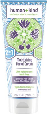 Human + Kind Moisturising Facial Cream 2in1 Vegan (75 ml)