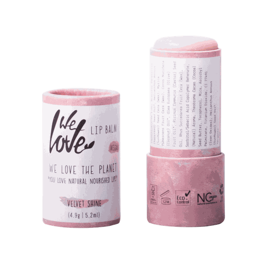 We Love The Planet Natuurlijke lip balm Velvet Shine (VEGAN)