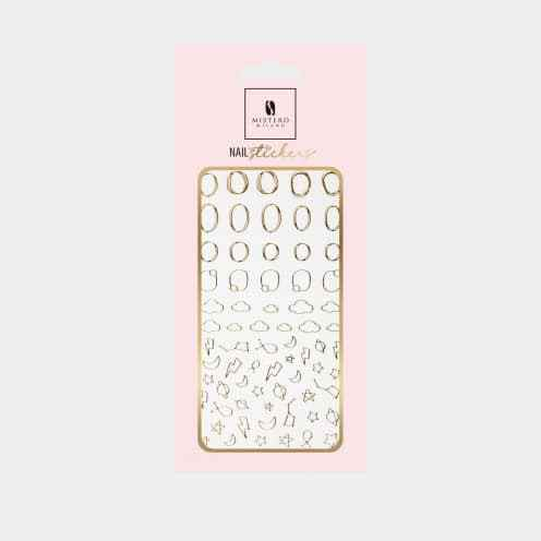 5095 - Nail Sticker Style 3 - gold