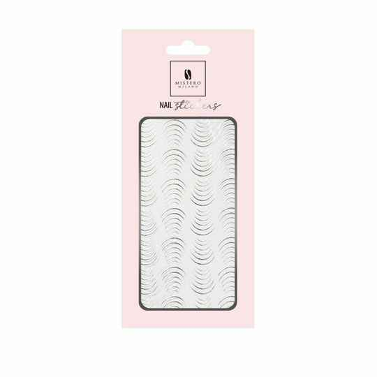 Nail Stickers Elastic Bow - Silver