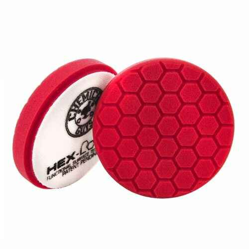 Hex logic 5.5 inch rood finesse zachte polijst pad