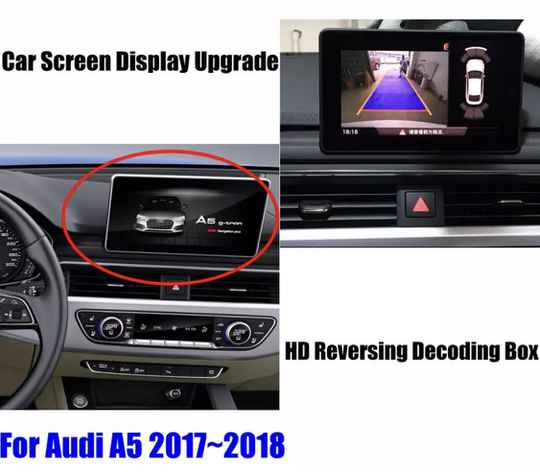 Parking Camera Voor Audi A5 2010-2020 Achteruitrijcamera Hd Decoder Module Auto Scherm Upgrade display Update