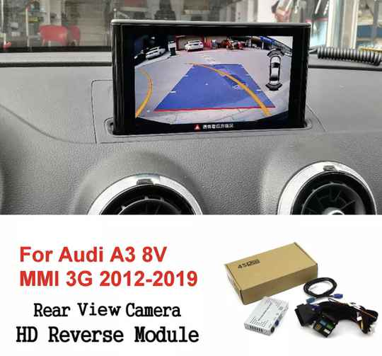 Achteruitrijcamera Voor Audi A3 8V Mmi 3G 2012-2019 Interface Adapter Backup Parking Voor Achter Camera display Verbeteren Decoder
