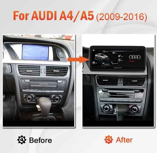 Android Audi A4 A5 S4 S5 A4L B8 2009-2016 Navigatie Multimedia Speler Auto audio Auto Stereo Screen