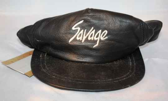 CAPS-1006 - Leren Cap Suzuki Savage (pet)