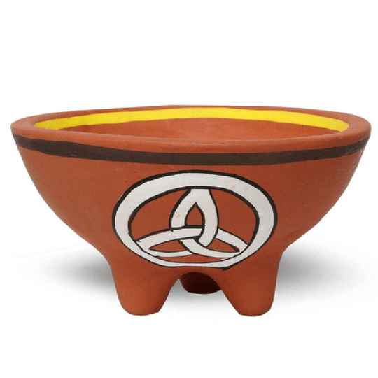 Smudge bowl triquetra with legs
