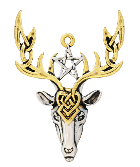 Mythic Celts, Beltane Stag, Hanger Inclusief Wenskaart 'Angel of Earth'