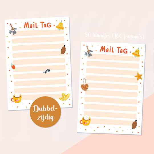 Merry & Bright Mail Tag (50 vel)