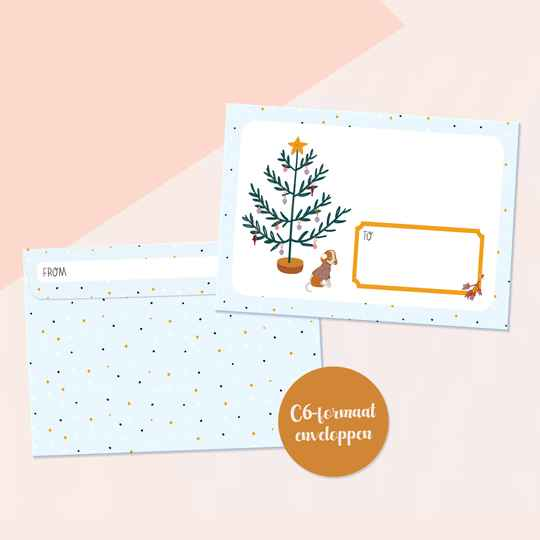 Merry & Bright enveloppen (10 of 20 stuks)