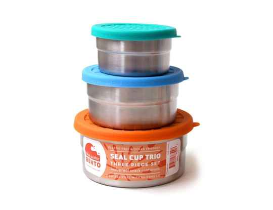 Lunchbox - Seal cup trio - roestvrij staal - Blue Water Bento