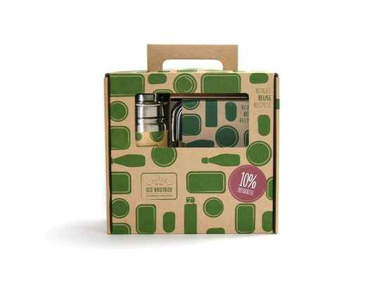 cadeauset rvs lunchbox en drinkfles 500 ml