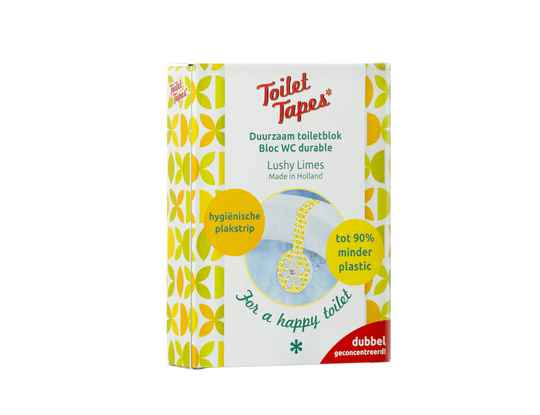 Toiletblok met tape  -  Lushy Limes  -  Toilet tapes
