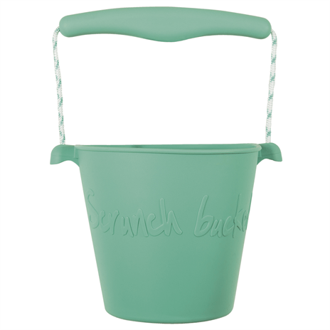 Scrunch bucket - opvouwbare strandemmer - duck egg green