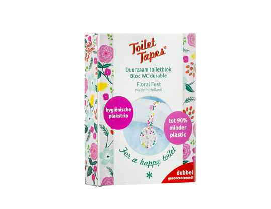 Toiletblok met tape  -  Floral Fest  -  Toilet tapes