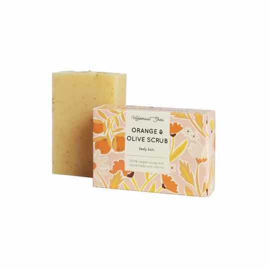 Helemaal Shea - Orange & Olive scrubzeep - 110 gram