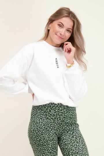 Witte sweater amour