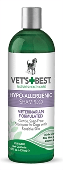 W2-384719 VETS BEST HYPO-ALLERGENIC SHAMPOO 470 ML