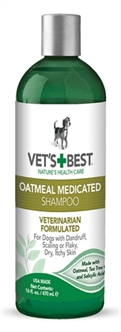 W2-384718 VETS BEST OATMEAL MEDICATED SHAMPOO 470 ML