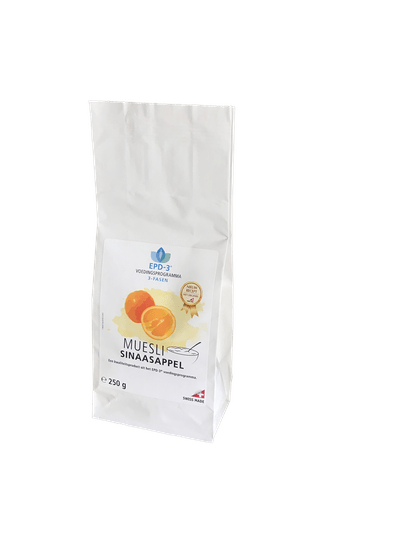 MUESLI ORANGE (Sinaasappel) - 250 gram