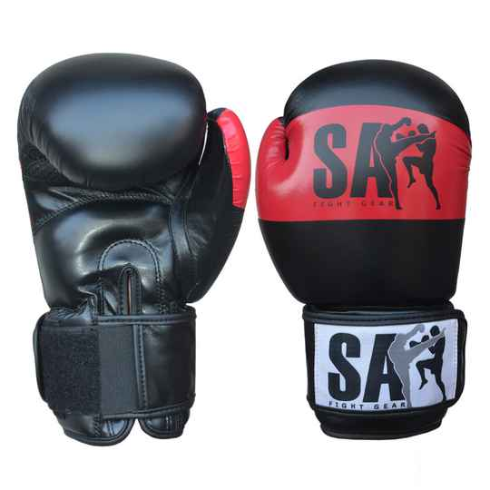SA Fightgear bokshandschoenen red/black serie