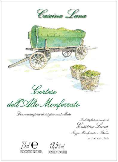 Cascina Lana Cortese Alto Monferrato DOC 2019 750ML ALC.13%