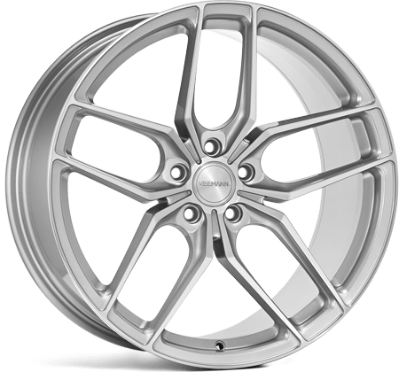 Set 20 inch | Veemann VC03 | 9j ET35 | 10j ET45 | 5×120 | Quartz zilver machined