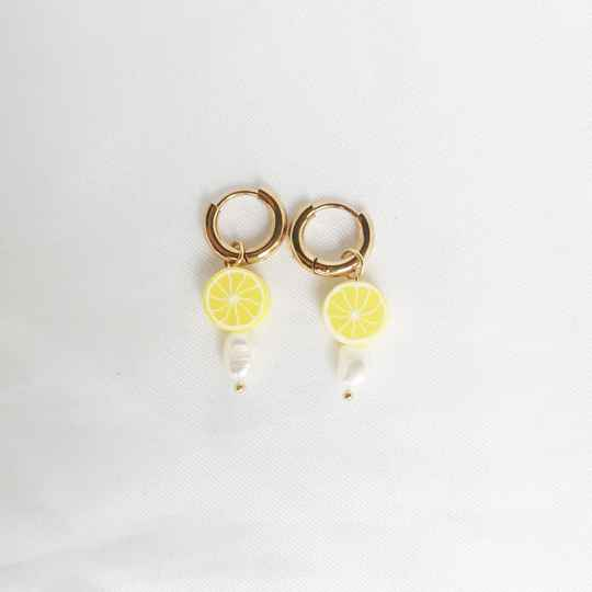 Earrings Squeeze Lemon