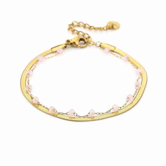 Stone Anklet Pink